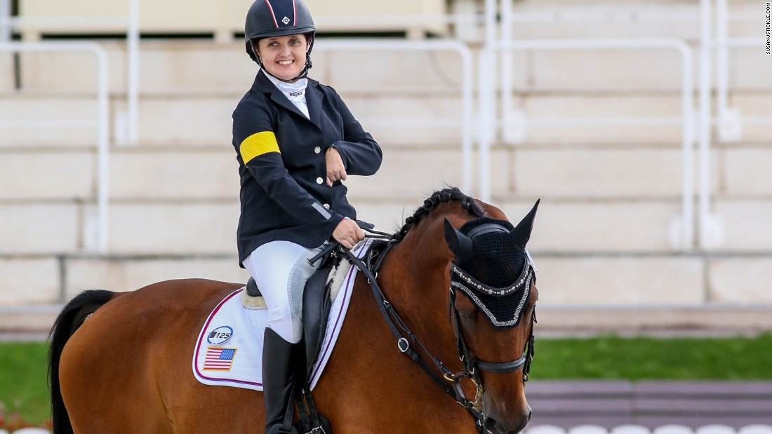 "Para-dressage rider Sydney Collier suffers from a rare condition called Wyburn-Mason syndrome which causes tumors in the brain. ""Less than 100 people on earth have this,"" says Collier."