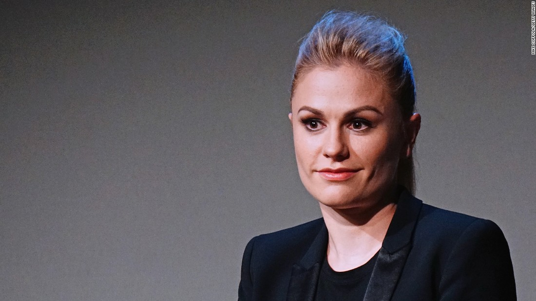 "Actress Anna Paquin<a href=""http://www.huffingtonpost.com/2013/06/21/anna-paquin-bitchy-resting-face-video_n_3477410.html"" target=""_blank""> lamented </a>to Jimmy Kimmel that she suffered from a resting facial expression that makes her look ""like you want to kill people, or like you're a giant bitch. That's pretty much how I come across"" -- even when she's happy."