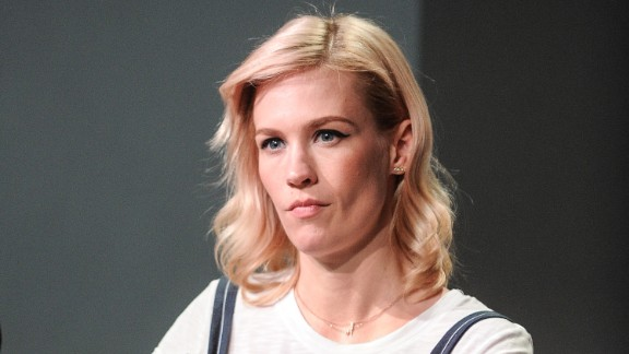 """Actress January Jones played a seriously unhappy woman on """"Mad Men,"""" and some judged her harshly for not banishing that persona off screen. In a New York Times profile, the writer felt compelled to note, """"It isn't easy to coax a smile out of January Jones."""""""