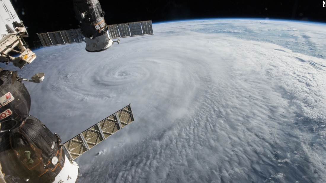 The crew of the international space station spotted Typhoon Soudeloron on August 5 as the storm moved through the western Pacific.