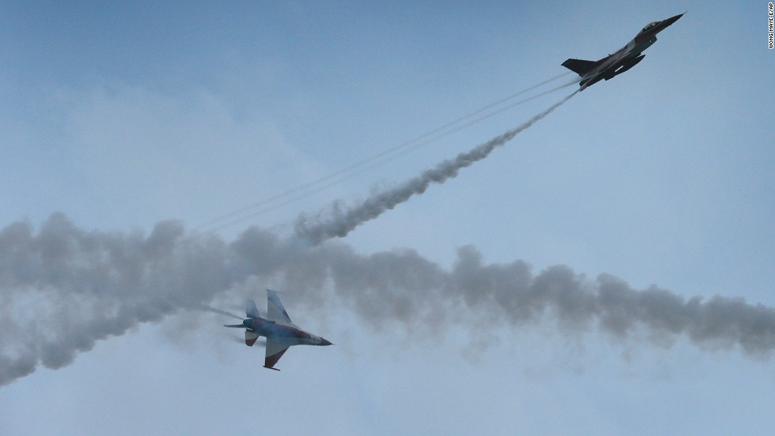 Singapore air force jets perform as part of celebrations on August 9.