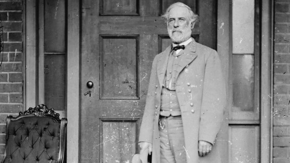 Confederate Gen. Robert E. Lee stands for a portrait April 16, 1865 in Richmond, Virginia.