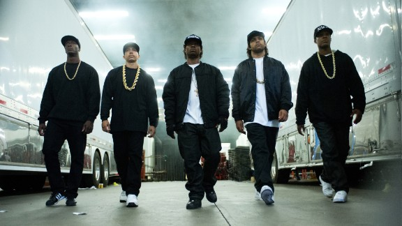 """The controversial rap group N.W.A got their story told in the biopic """"Straight Outta Compton"""" which opened on August 14. N.W.A members Dr. Dre and Ice Cube produced the film which stars Ice Cube's son as his dad."""
