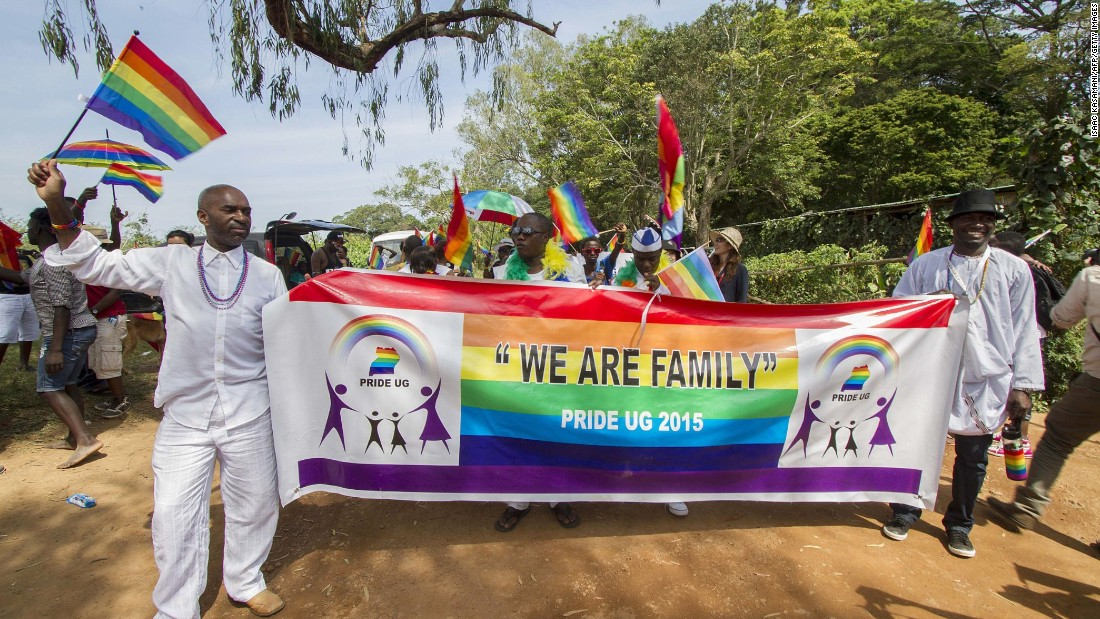 """It's when we as an LGBTI family bond as one and march for what we believe is rightfully ours: equal treatment. I celebrate Pride because it gives us the avenue where many voiceless people speak out as one loud voice,"" said Qwin."