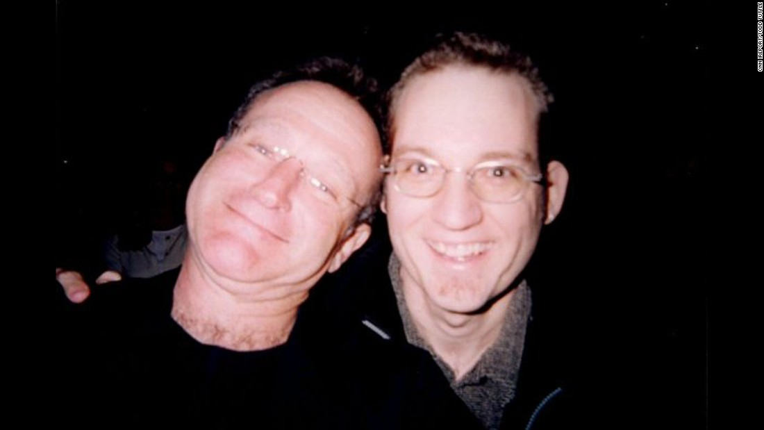 "<a href=""http://ireport.cnn.com/docs/DOC-1161719"">Todd Tuttle</a> took what he called ""a special selfie"" with Williams in 1999. Tuttle ran into Williams at the Los Angeles restaurant Spago. Afterward, he said he witnessed Williams giving money to a homeless man nearby."