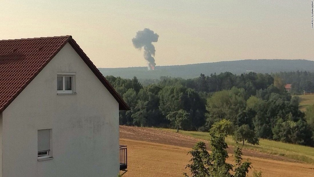 U.S. F-16 crashes in Germany; pilot safe