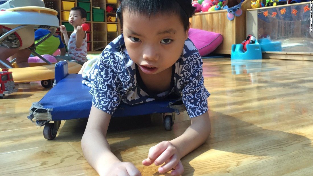 "Hai Cong was born in Guangxi province in southern China in 2009. He started living in Alenah's Home, run by Children's Hope, in July, 2014. Hai Cong suffers from atresia aural -- the absence or closure of the external ear canal -- and uses hearing aids. His carers say he's ""an energetic boy who is curious about everything around him."""