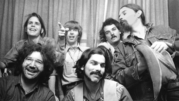 """Founded in 1965, the Grateful Dead kept chugging through the 1970s with near-nonstop touring. The original jam band, seen here in 1970, featured (clockwise from top left): Bob Weir, Phil Lesh, Bill Kreutzmann, Ron """"Pigpen"""" McKernan, Mickey Hart and Jerry Garcia."""