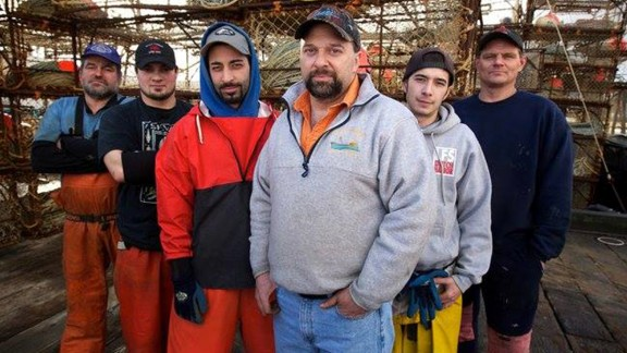 """Discovery Channel's """"Deadliest Catch"""" star Tony Lara, center, died while in Sturgis, South Dakota, for the famed motorcycle rally that takes over the city each August."""