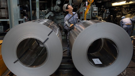 Industry adds 5.8% of global carbon and greenhouse gas emissions, according to WRI. Cement and aluminum production, shown here, are among the major contributors.