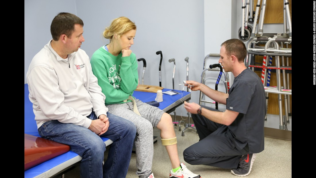 Thatcher's left leg was affected by the surgery, but through physical therapy exercises, and using a brace and boot, she is already walking again and is expected to fully recover.