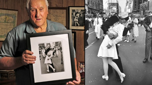 World War II veteran George Mendonsa, of Rhode Island, claims he's the sailor in the iconic 1945 Life Magazine photo of a couple smooching in Time Square.