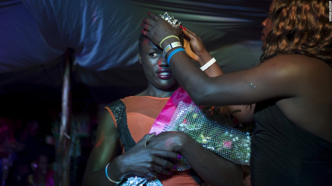 Mahad, who identifies as a transgender woman, is crowned after she was announced as the winner of the Miss Pride beauty contest in Kampala, Uganda, on Friday, August 7. On Saturday, August 8, members of the lesbian, gay, bisexual and transgender community celebrated Gay Pride near the capital city.