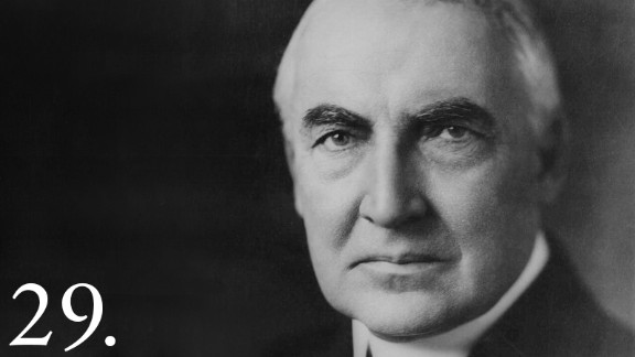 Warren G. Harding, 29th President of the United States from 1921 - 1923.
