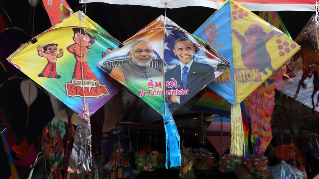 "Popular trends are displayed on each kite. This year, the ""Mobama"" kites showcasing the much-hyped friendship between Barack Obama and India's Narendra Modi are the hot favorites. So too are ""Angry Birds"" and ""Tom and Jerry"" kites, perhaps a sign of the<br />eclectic tastes and influences of Delhi's kite-makers."