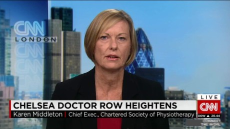 Chelsea doctor row heightens