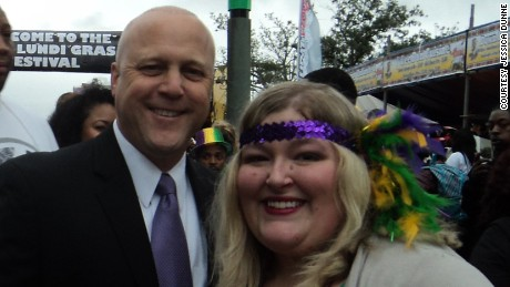 Dunne with Mayor Mitch Landrieu