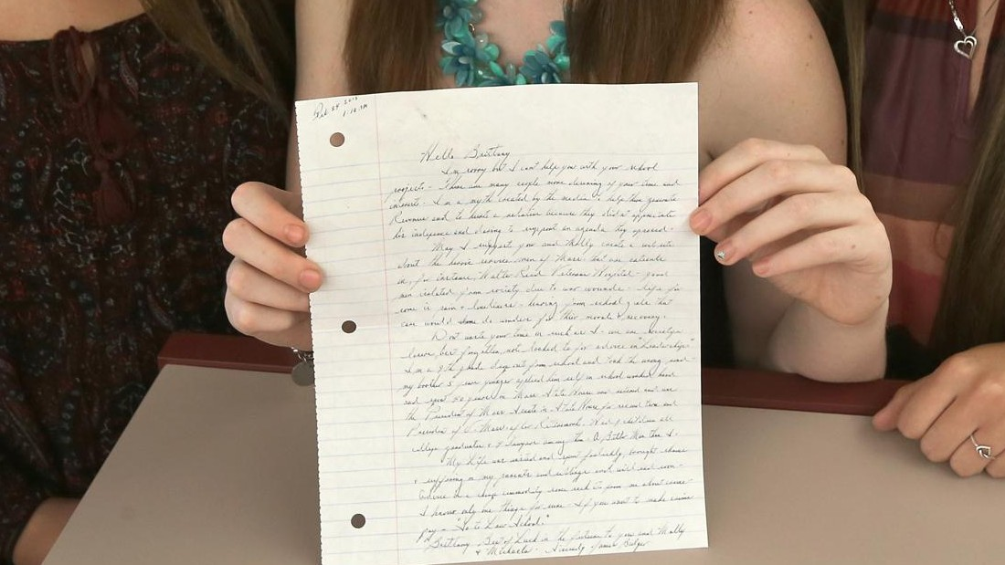 Students get letter from Whitey Bulger
