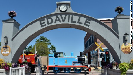 "CARVER, MA - AUGUST 14:  General atmosphere at the Edaville USA And Mattel Grand Opening Of ""Thomas Land"" on August 14, 2015 in Carver, Massachusetts.  (Photo by Paul Marotta/Getty Images for Mattel)"