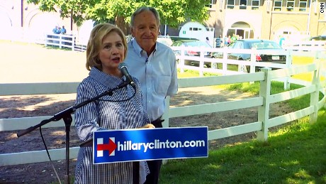 Tom Harkin with Hillary Clinton in Iowa in 2015.