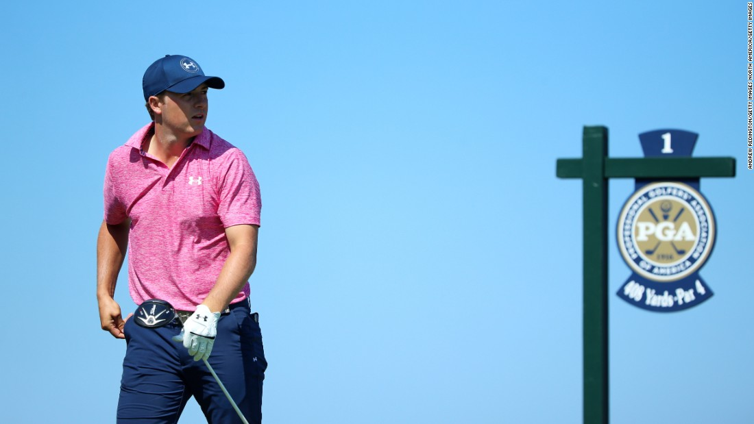 Following close behind is Jordan Spieth who carded an impressive six birdies and three pars on the back nine Saturday.