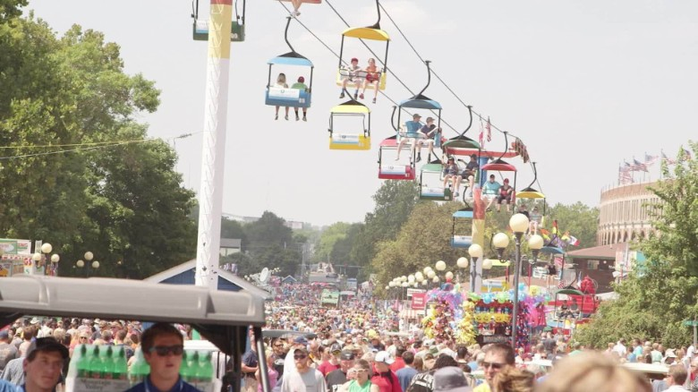 A hectic day at the Iowa State Fair