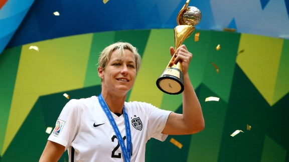 American soccer legend Abby Wambach's sexuality was an open secret for years before she married fellow soccer player Sarah Huffman in 2013.