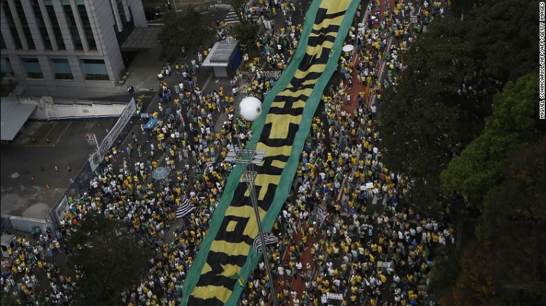Brazilian protesters demand President's impeachment