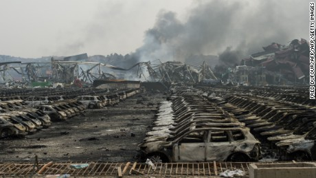 Residents demand compensation after China blast