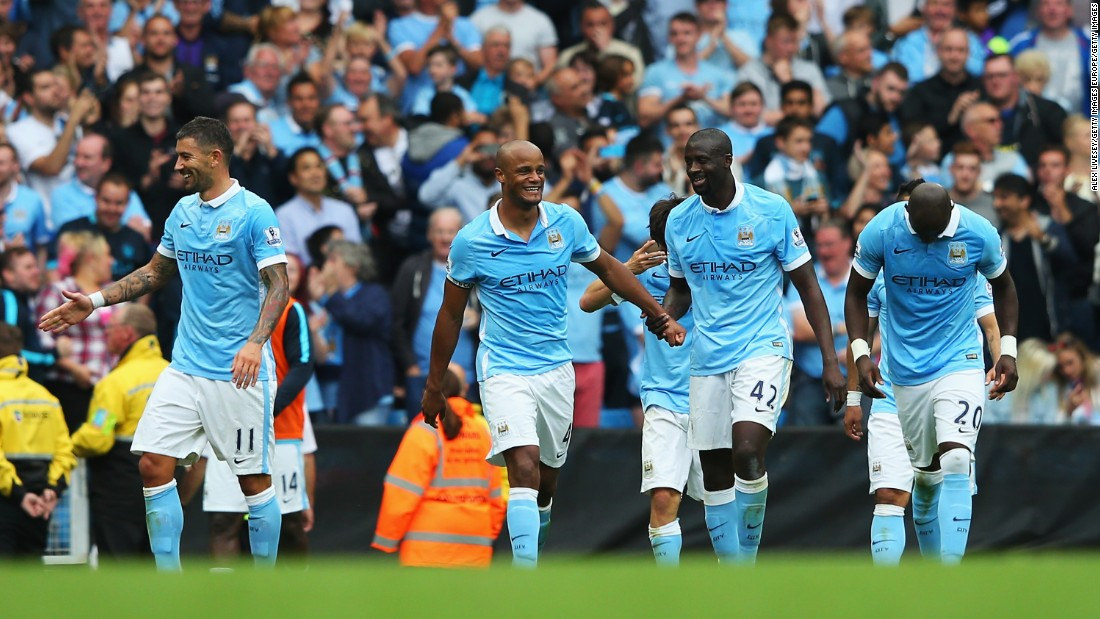 Captain Vincent Kompany doubled City's lead with a well placed header in the second half.