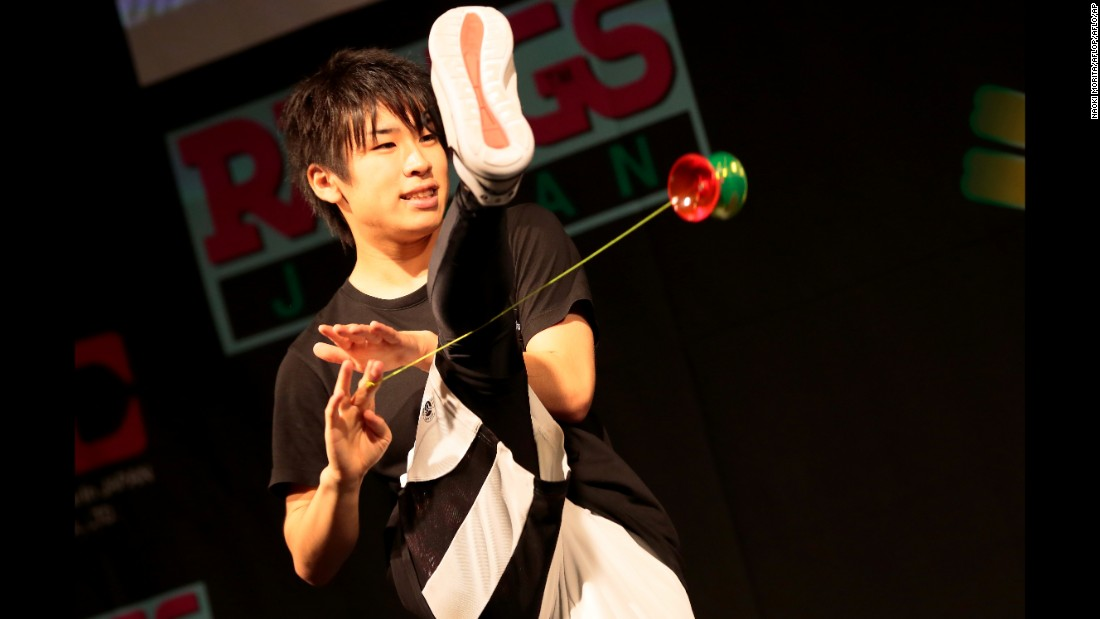 "Naoto Onishi performs Sunday, August 16, at the World Yo-Yo Contest in Tokyo. He won first place in his category. <a href=""https://www.youtube.com/watch?v=WpGuwRih41g"" target=""_blank"">Check out his winning routine on YouTube</a>"