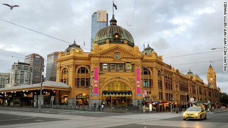 The Flinders Street Station is the central railway station of the suburban rail network of Melbourne.