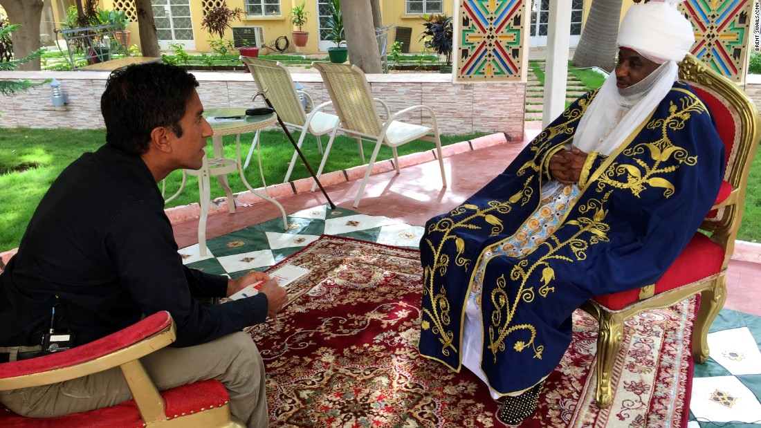 CNN's Dr. Sanjay Gupta talks to the Emir of Kano. The Emir has been instrumental in changing people's attitudes toward the vaccine in the northern Nigerian state.