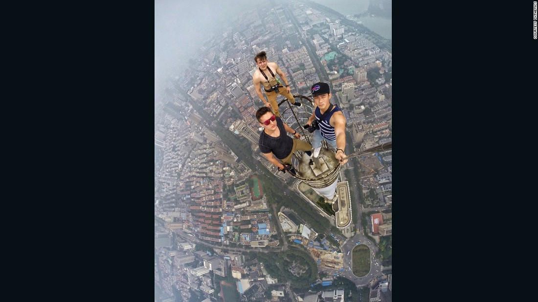 "Daniel Lau recently lit up <a href=""http://www.yangtse.com/nanjing/2015-07-29/594410.html"" target=""_blank"">Chinese media</a> by taking a selfie from above the fourth tallest building in China, the 450-meter Zifeng Tower in Nanjing, alongside notorious rooftoppers from Russia Vladimir Sidorov and Ivan Kuznetsov."