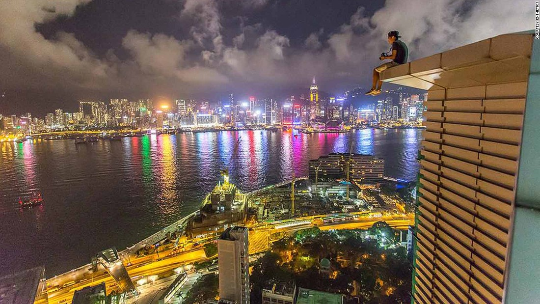 """Rooftopping is like a getaway from city life to me -- Hong Kong is such a fast-paced city with so much pressure and noise,"" says Lau. ""When I'm on a rooftop, everything slows down, you don't hear anything but wind, all the rush from the ground became like slow-motion."""