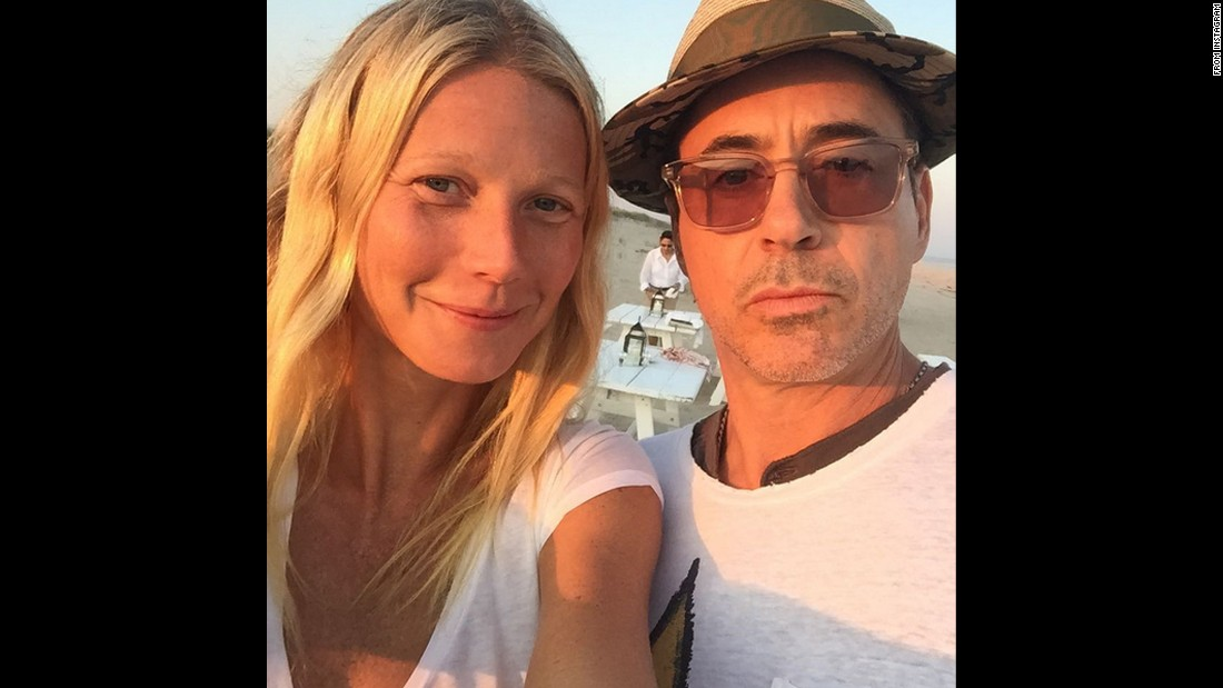 """Iron Man"" co-stars Gwyneth Paltrow and Robert Downey Jr. take a selfie together on Sunday, August 16. ""How I love thee,"" <a href=""https://instagram.com/p/6eAKfvCPcy/"" target=""_blank"">Paltrow said on Instagram.</a>"