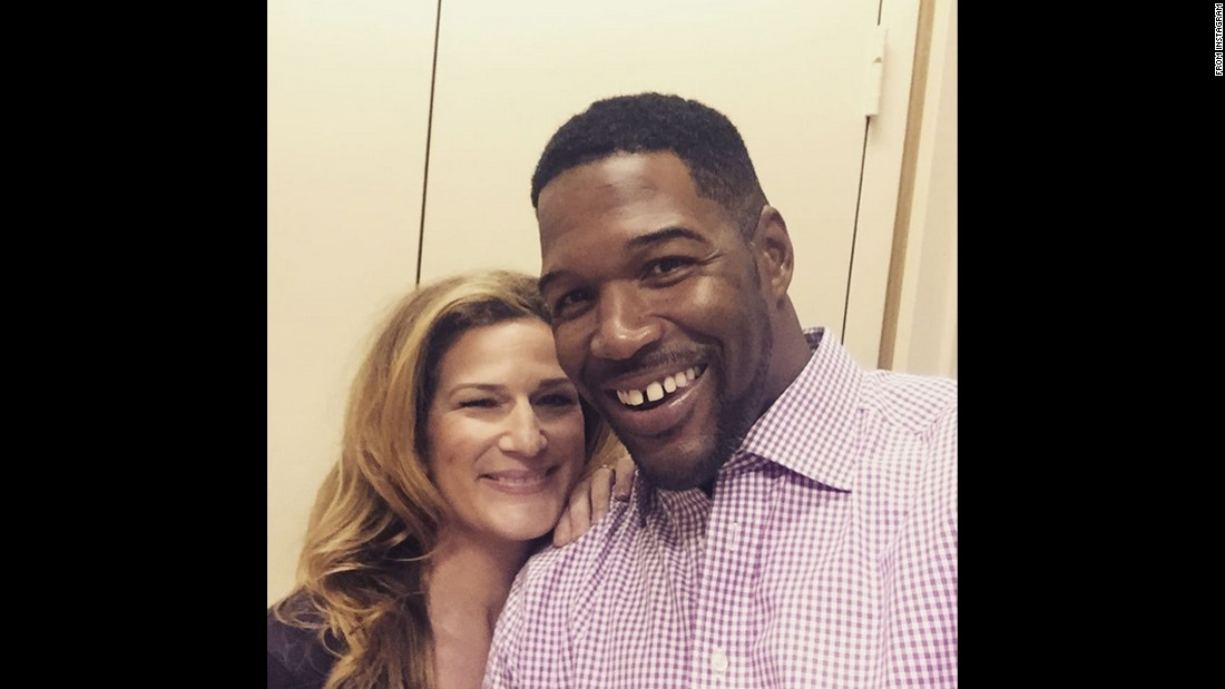 "Actress Ana Gasteyer poses with television personality Michael Strahan on Tuesday, August 18. Gasteyer was co-hosting ""Live with Kelly & Michael."" ""Lovely morning with this guy today,"" <a href=""https://instagram.com/p/6htm3eoawF/"" target=""_blank"">Gasteyer said on Instagram.</a> ""Kelly's on vacation so I tried to hold down the fort."""