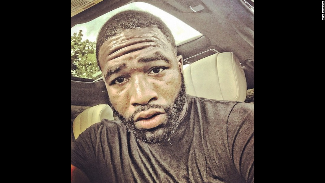 "Professional boxer Adrien Broner took this selfie Friday, August 14, after doing some training for his upcoming bout with Khabib Allakhverdiyev. ""Now that run kicked my ass this morning but I'm here!"" <a href=""https://instagram.com/p/6Xty5gu4YT/"" target=""_blank"">Broner said on Instagram.</a>"