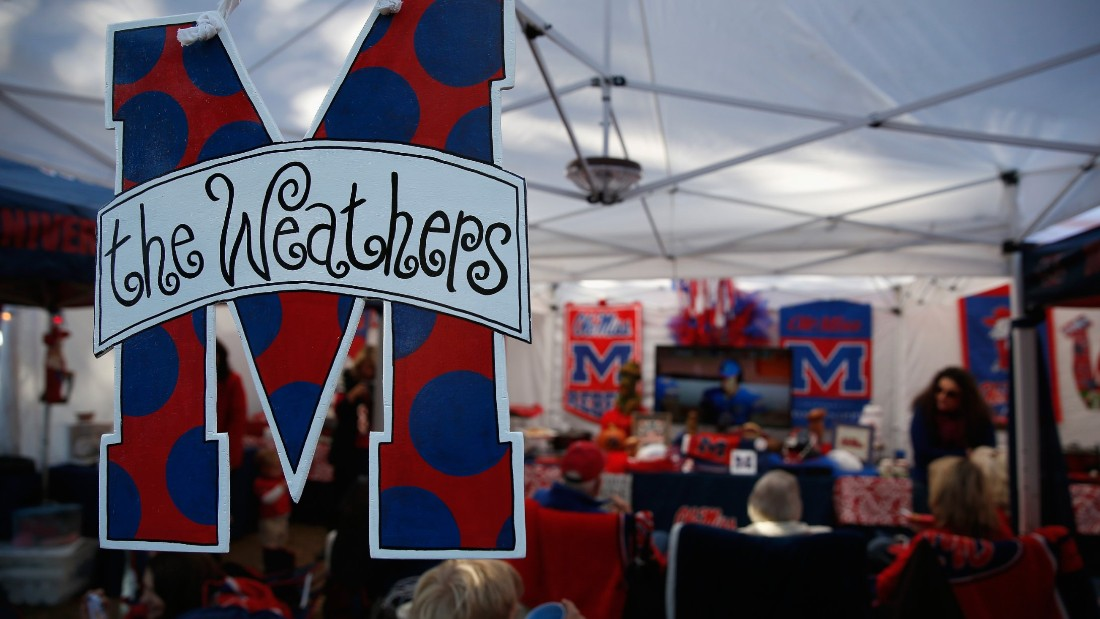 OXFORD, MS - NOVEMBER 01:  Fans host elaborate pregame parties in The Grove as the Auburn Tigers face the Mississippi Rebels at Vaught-Hemingway Stadium on November 1, 2014 in Oxford, Mississippi. Auburn defeated Mississippi 35-31.  (Photo by Doug Pensinger/Getty Images)