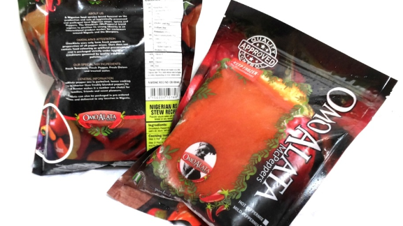 """OmoAlata, meaning """"son or daughter of a spice seller"""", is a manufacturer of traditional Nigerian soups, spices and peppers. They're based in Lagos."""
