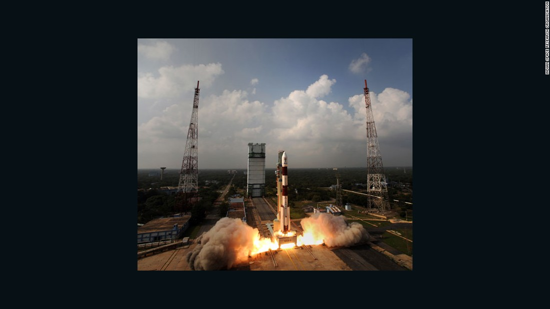 India's Mars Orbiter Mission spacecraft was launched on November 5, 2013.