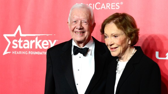 The Carters attend a MusiCares gala honoring Bob Dylan in February.