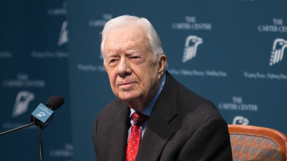 Jimmy Carter discusses his cancer diagnosis at the Carter Center in Atlanta on August 20.