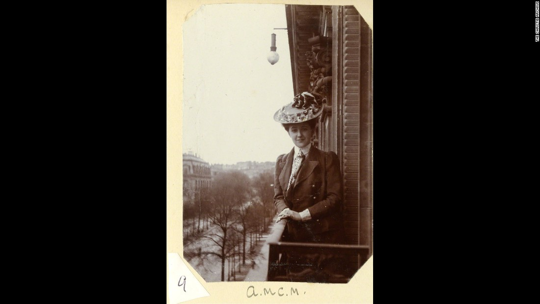 In addition to being well-read, Christie was extremely well-traveled. She is seen here in Paris in 1906. In later years, she crisscrossed the globe.