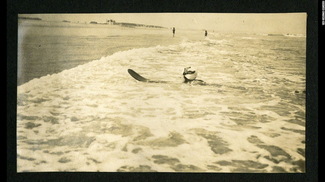 Christie was even snapped surfing in Muizenberg, South Africa, while on the round-the-world trip.
