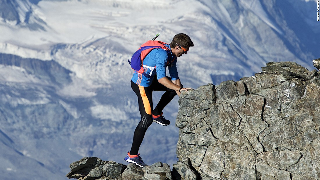 Steindl, who grew up in the Swiss mountains, continues his ascent.