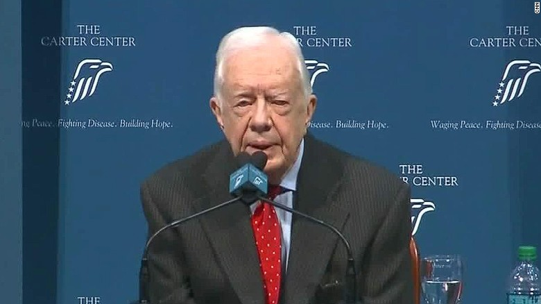 Jimmy Carter: Future is 'in the hands of God'