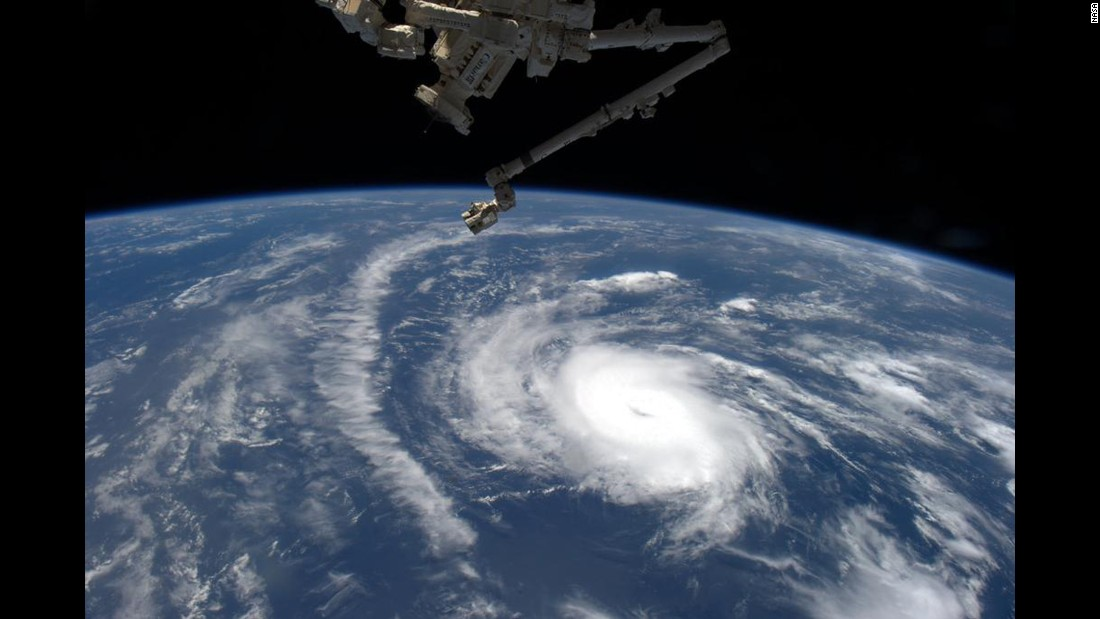 NASA space station astronaut Scott Kelly tweeted this photo of Danny on August 20 just after Danny was classified as the first hurricane in the Atlantic in 2015.
