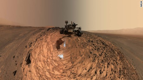 NASA's Curiosity Mars rover snapped this new selfie in August. Dozens of images taken by Curiosity's Mars Hand Lens Imager were combined to create the photo.