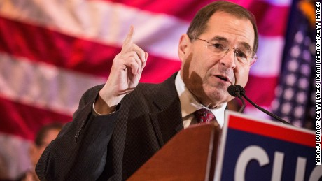 Rep. Jerry Nadler, a New York Democrat, speaks at an event to support the re-election of New York Gov. Andrew Cuomo in October 2014 in New York City. (Photo by Andrew Burton/Getty Images)